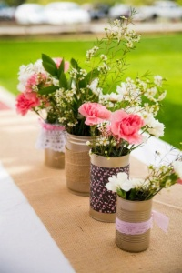 centerpiece rustic chic