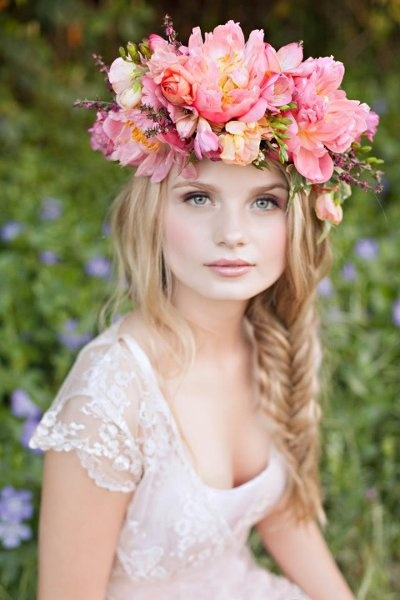 Hold Your Head Up High  Bridal Flower Crowns and Wreaths - Wedding ... 5ad02c642f1
