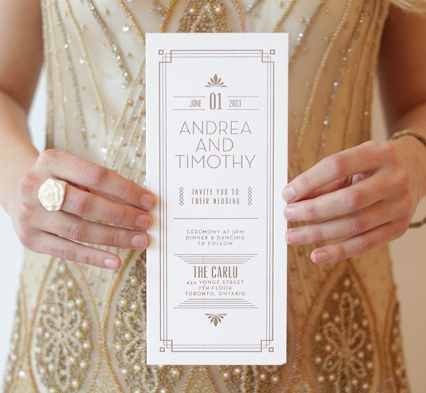 Gallery For Great Gatsby Themed Wedding Invitations