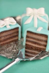 Tiffany layered mini cakes