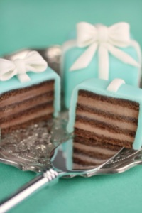 Tiffany layered mini cakes