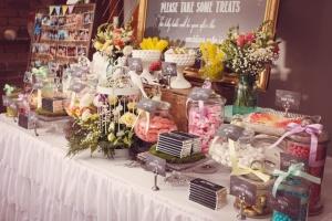 vintage garden dessert table