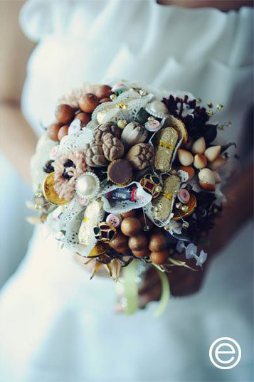 chocolate trinkets bouquet