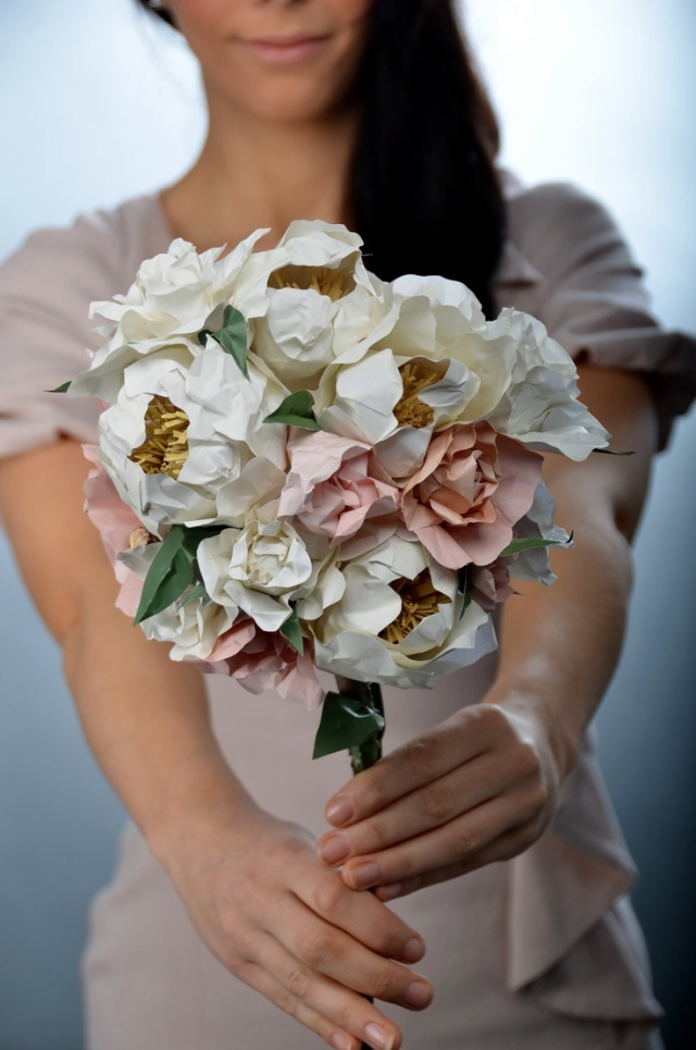 custom made paper bouquet