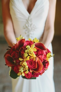 deep colored bouquet