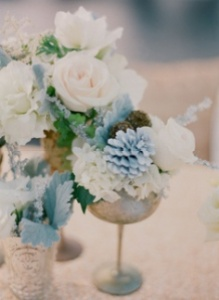 dusk blue centerpiece