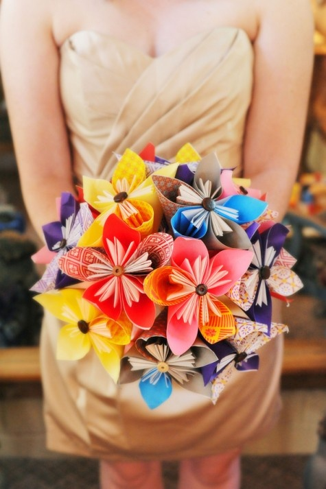 homemade paper bouquet