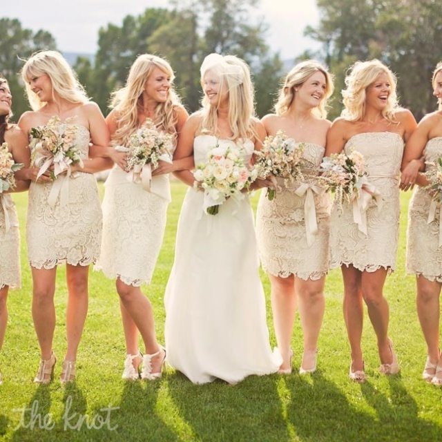 A Practical Wedding Real Weddings: 5 Fabrics For Your Not-So-Typical Bridesmaid Dresses