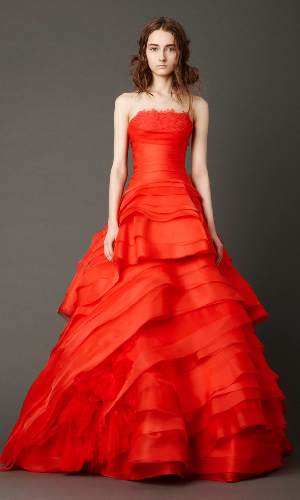 Poppy Red Bride Vera Wang