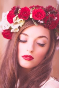 Poppy Red flower crown