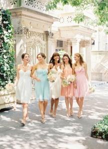 shabby chic bridesmaids