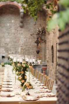 tuscan wedding table