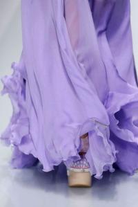 versace violet dress