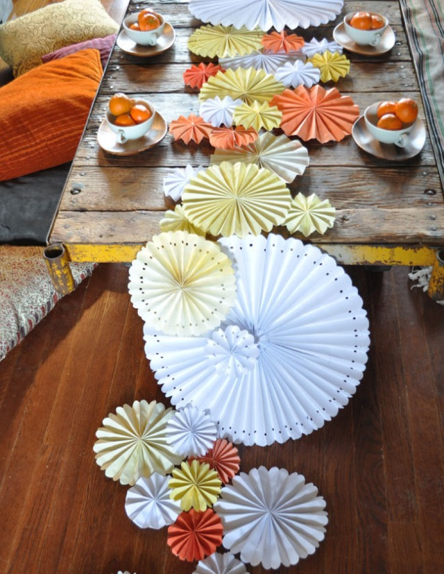 origami table runner 1