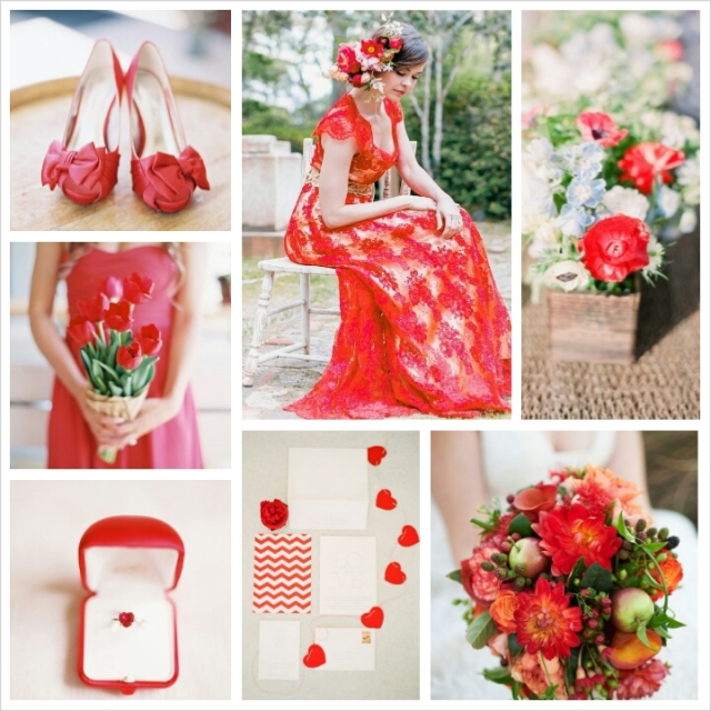 Spring Wedding Colors 2014: Pantone Spring 2014 Colors: Cayenne Wedding