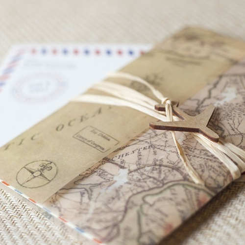 Vintage Travel Wedding 10