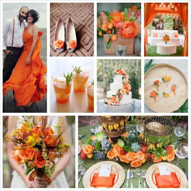 Spring Wedding Colors 2014: Pantone Spring 2014 Colors: Celosia Orange Wedding