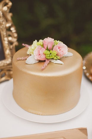 gold metallic cake
