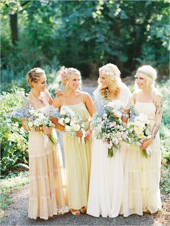 15 Prettiest Pastel Bridesmaid Dresses