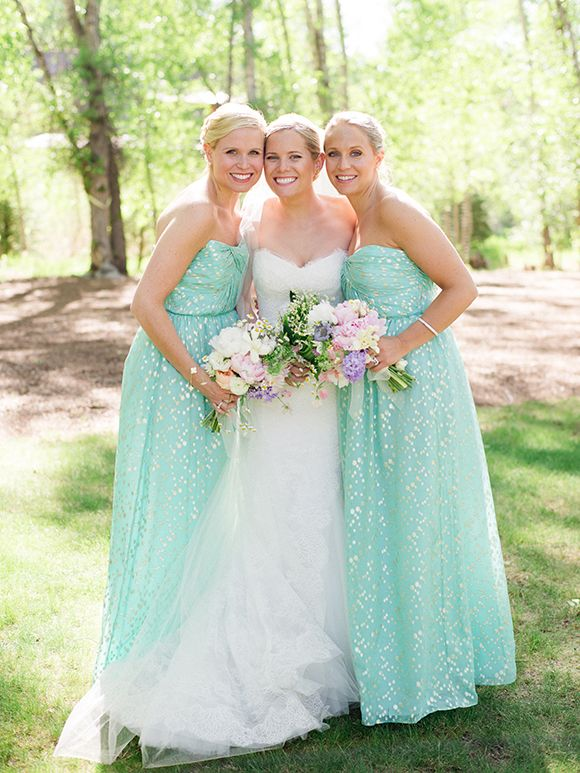 15 prettiest pastel bridesmaid dresses wedding blog for Pastel green wedding dress