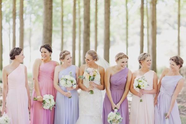 Soft Pastel Bridesmaid Dresses