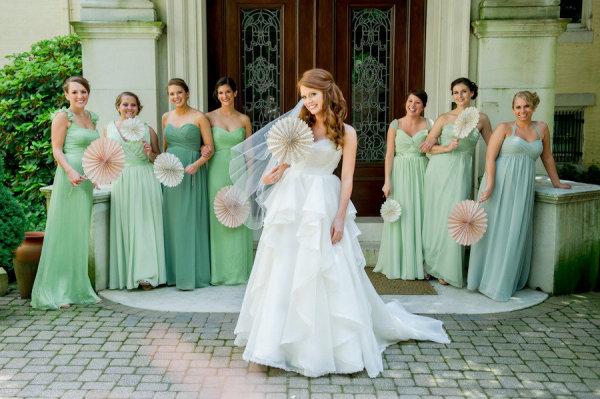 Pastel Bridesmaid Dresses 7