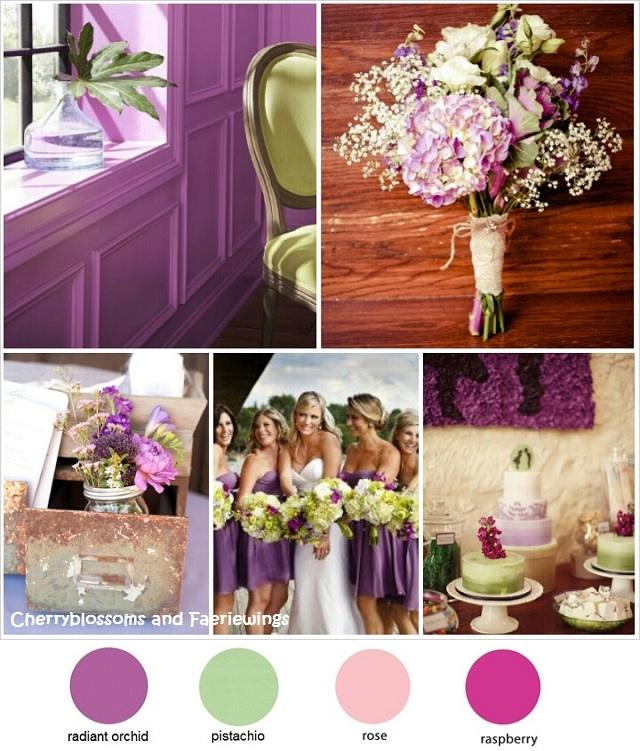 Color Series #3 - Radiant Orchid_Pistachio