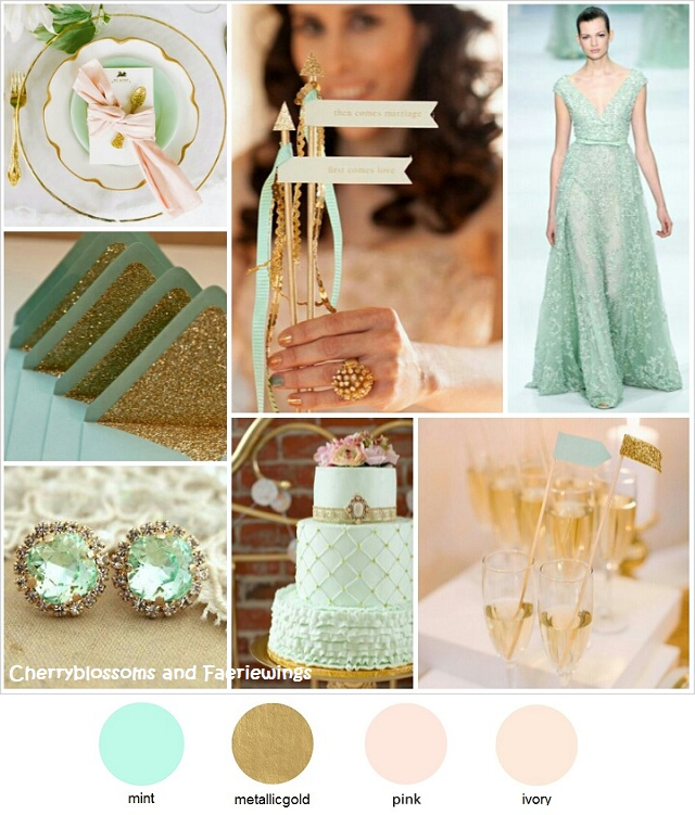 Color Series #4 - Mint + Gold