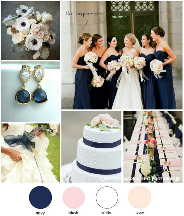 Color Series #7 - Navy + Blush + White