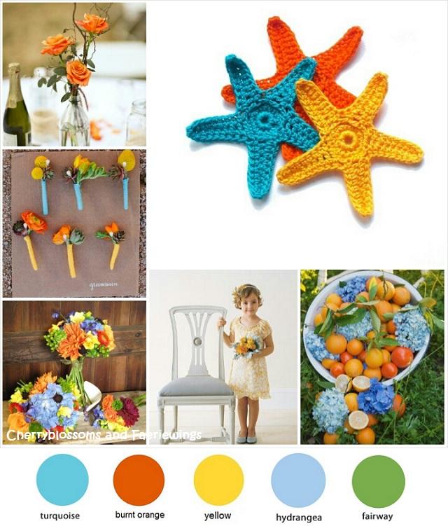 Color Series #7 - Turquoise + Orange + Yellow