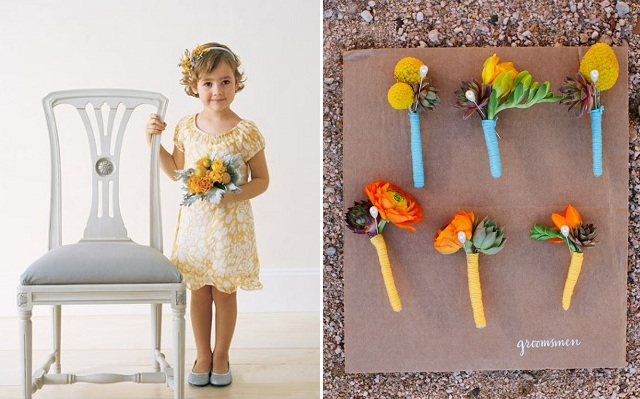 flower girl dress and bouts