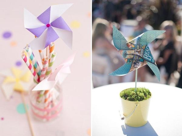 Pinwheel and straws