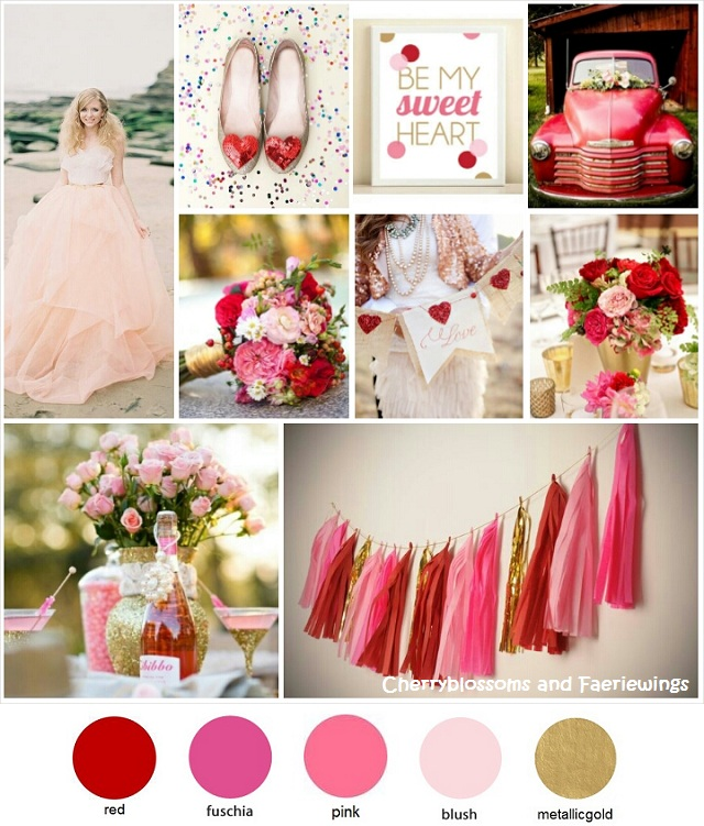 Color Series 10 Red Pink Gold Wedding Blog