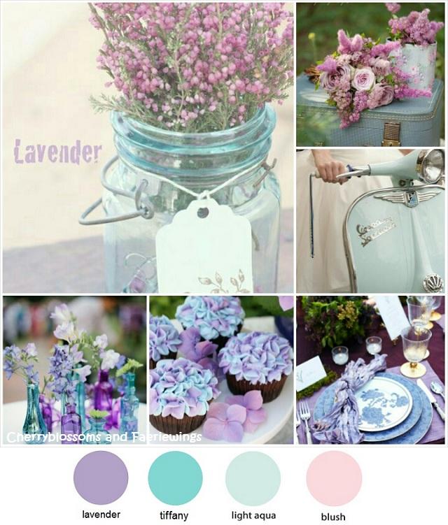 Color Series 12 Lavender Tiffany Blue Wedding Blog