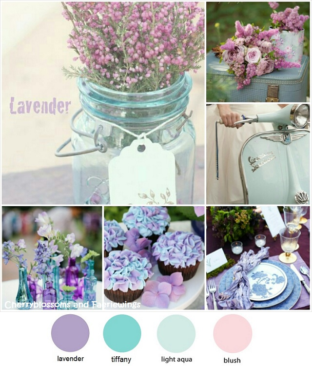 Color Series #12 - Lavender + Tiffany Blue