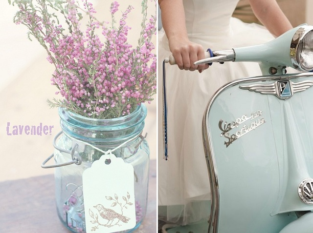 lavender + vespa
