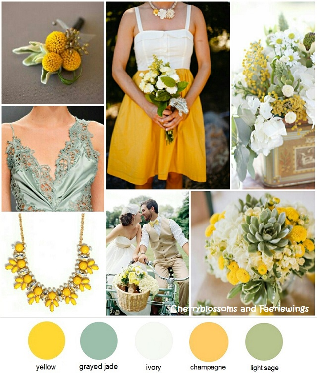 Color Series #13 - Yellow + Grayed Jade