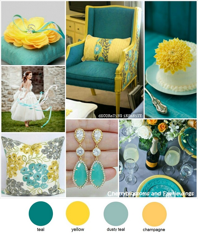 Gray Teal And Yellow Color Scheme Decor Inspiration: Color Series #15 : Teal + Yellow