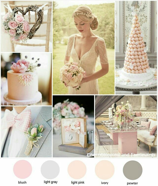 Color Series #14 : Blush + Gray - Wedding Blog | Cherryblossoms and ...