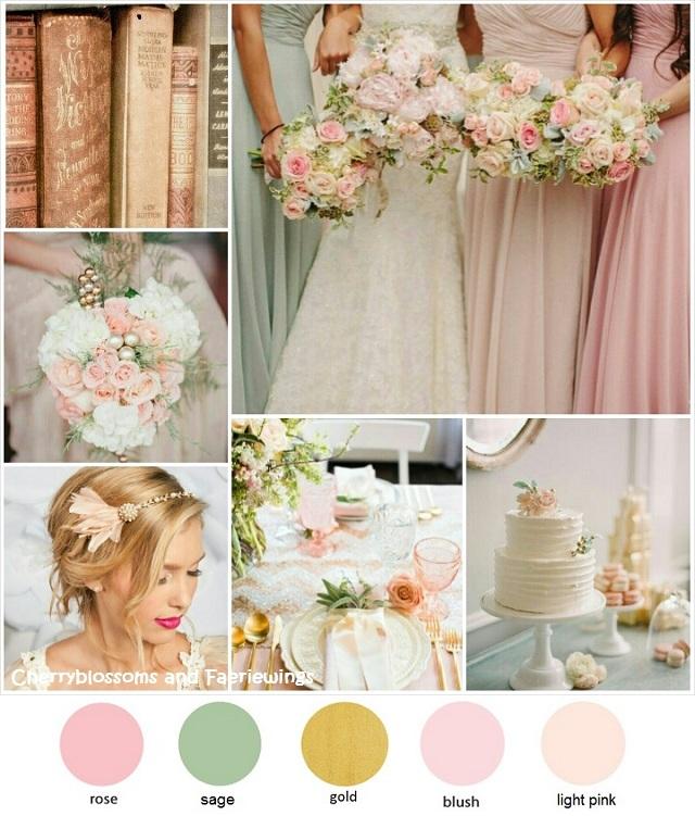 Color Series #17 : Rose + Sage + Gold