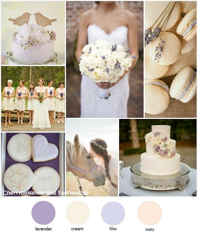 Color Series #18 - Lavender + Cream
