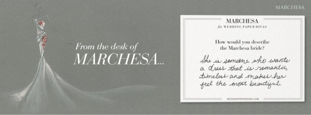 The Marchesa Collection for Wedding Paper Divas