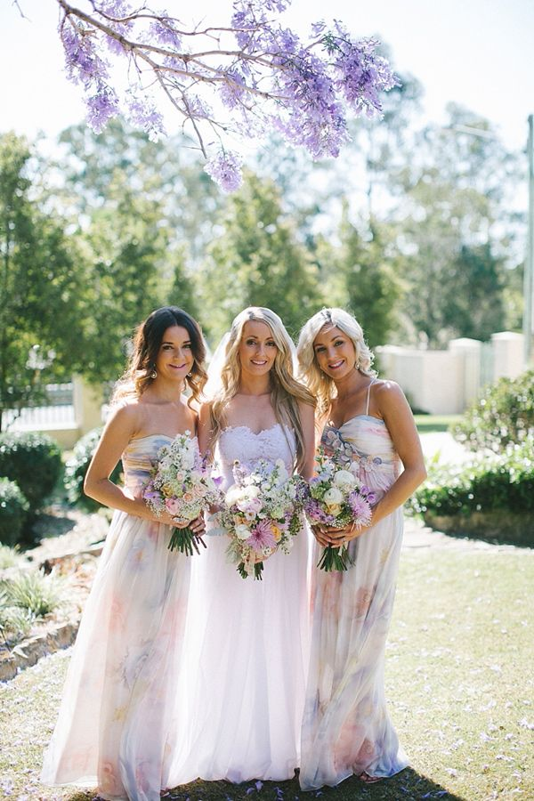 watercolor bridesmaids